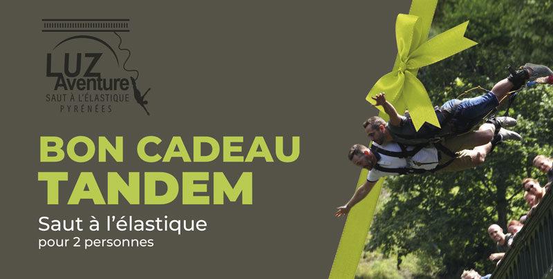 Bon Cadeau pour un saut en tandem à l'élastique au Pont Napoléon à Luz Saint-Sauveur
