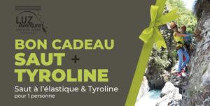 Bon Cadeau pour un saut à l'élastique au Pont Napoléon + Tyroline à Luz Saint-Sauveur